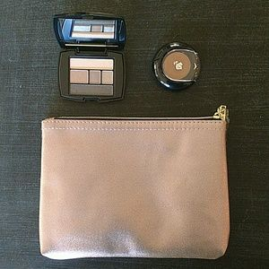 Lancome eyeshadow, bronzer and bag